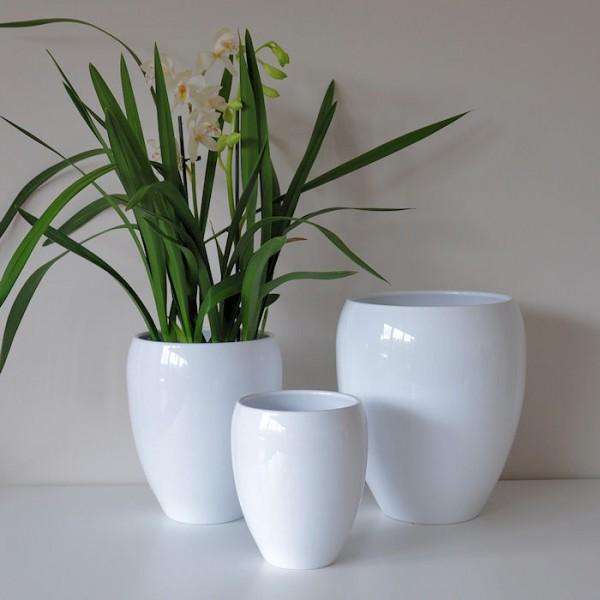 Doniczki Ceramiczne Oravita 10119 White Biały La Decora