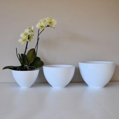 Doniczka Ceramiczna Turda 11023 White Biały La Decora