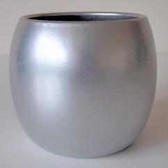 Donice Barrel 120/13 zilver - srebrny