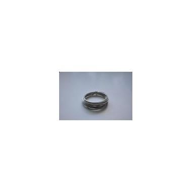 Ring aluminiowy srebrny 40g