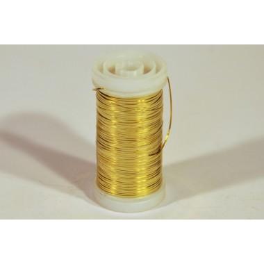 Drut płaszczony złoty 100g