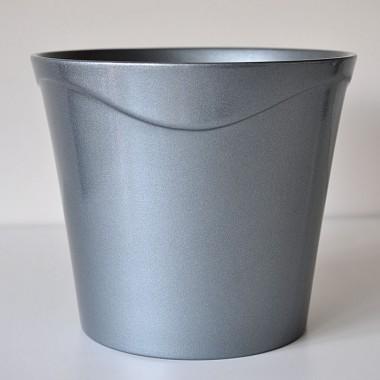 Doniczki Rema 0929/28/9023 ciemny srebrny metalic