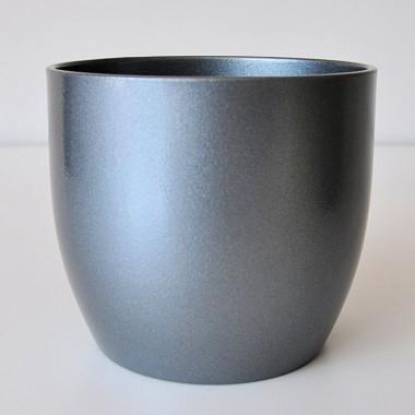 Doniczka na poinsecję Basel 0069/13/9023 ciemny srebrny metalic