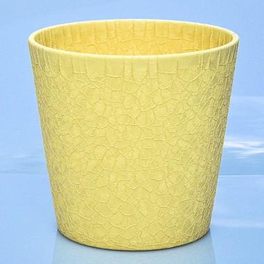 Osłonki Dallas 0078192136 Księżycowy żółty Crackle La Decora