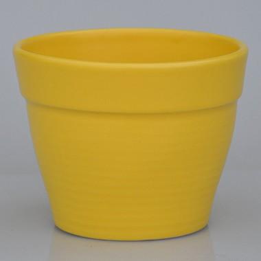 Doniczka Mandy 0292211 żółty Mat La Decora
