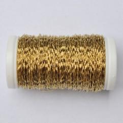 Drut karbowany złoty 75g