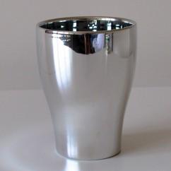 Doniczka do storczyka Kansas 608/17 lusterko - mirror silver Premium