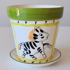 Doniczka zwierzaczek zebra