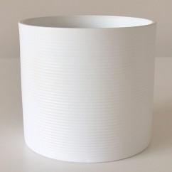 Doniczka Walec 828/19 biały mat - panna