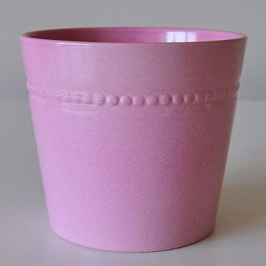 Donice ceramiczne Toczka 862/22 róż pudrowy - rose