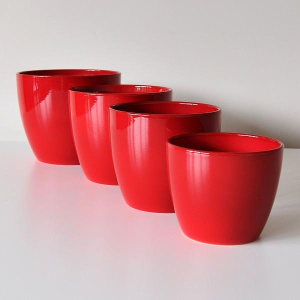 Osłonki Na Doniczki Braga 92016 Czerwony La Decora