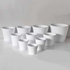 Donice ceramiczne Deco 130/16 biały połysk