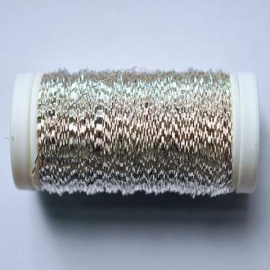 Drut karbowany srebrny 75g