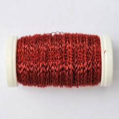 Drut karbowany czerwony 75g