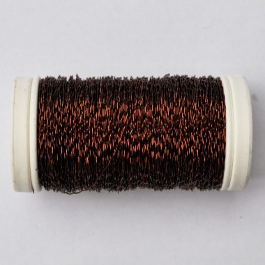 Drut karbowany brązowy 75g
